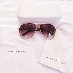 AUTHENTIC MARC JACOBS GOLD/BROWN SUNGLASSES 016/S